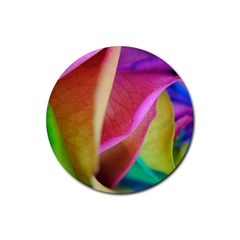 Rainbow Roses 16 Drink Coaster (round) by bloomingvinedesign