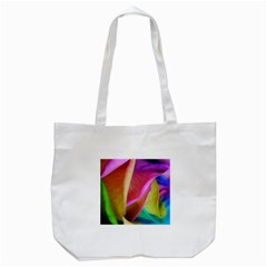 Rainbow Roses 16 Tote Bag (white) by bloomingvinedesign