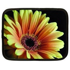 Yellow Orange Gerbera Daisy Netbook Sleeve (XXL) by bloomingvinedesign
