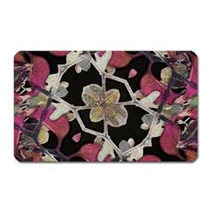 Floral Arabesque Decorative Artwork Magnet (rectangular) by dflcprints