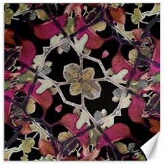 Floral Arabesque Decorative Artwork Canvas 16  X 16  (unframed) by dflcprints