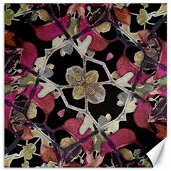 Floral Arabesque Decorative Artwork Canvas 20  X 20  (unframed)