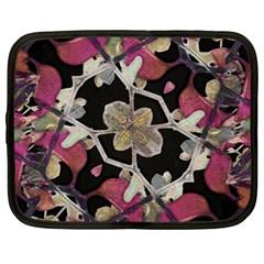 Floral Arabesque Decorative Artwork Netbook Sleeve (xxl) by dflcprints