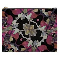 Floral Arabesque Decorative Artwork Cosmetic Bag (xxxl) by dflcprints