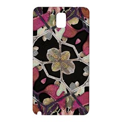Floral Arabesque Decorative Artwork Samsung Galaxy Note 3 N9005 Hardshell Back Case by dflcprints