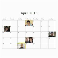 A By Tania   Wall Calendar 11  X 8 5  (18 Months)   K9sohy94ds2b   Www Artscow Com Apr 2015