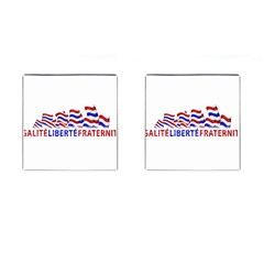 Bastille Day Cufflinks (Square) by dflcprints
