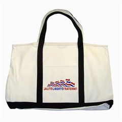 Bastille Day Two Toned Tote Bag by dflcprints