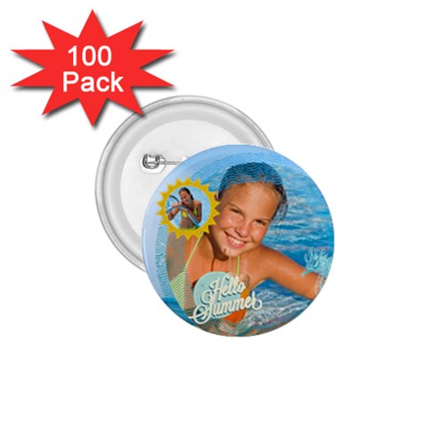 Summer By Summer Time    1 75  Button (100 Pack)    Dbpu9pjw50d7   Www Artscow Com Front