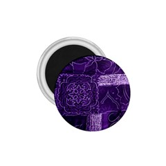Pretty Purple Patchwork 1 75  Button Magnet by FunWithFibro