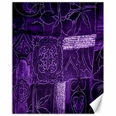 Pretty Purple Patchwork Canvas 16  X 20  (unframed) by FunWithFibro