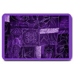 Pretty Purple Patchwork Large Door Mat