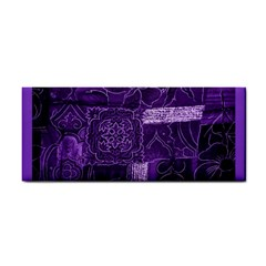 Pretty Purple Patchwork Hand Towel by FunWithFibro