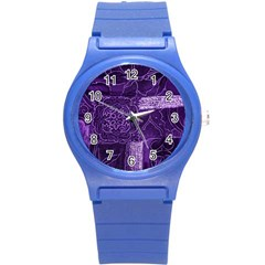 Pretty Purple Patchwork Plastic Sport Watch (small) by FunWithFibro