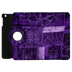 Pretty Purple Patchwork Apple Ipad Mini Flip 360 Case by FunWithFibro