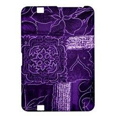 Pretty Purple Patchwork Kindle Fire Hd 8 9  Hardshell Case by FunWithFibro
