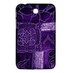 Pretty Purple Patchwork Samsung Galaxy Tab 3 (7 ) P3200 Hardshell Case  by FunWithFibro