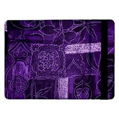 Pretty Purple Patchwork Samsung Galaxy Tab Pro 12 2  Flip Case by FunWithFibro