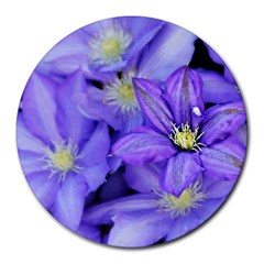 Purple Wildflowers For Fms 8  Mouse Pad (round) by FunWithFibro
