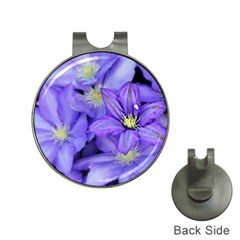 Purple Wildflowers For Fms Hat Clip With Golf Ball Marker by FunWithFibro