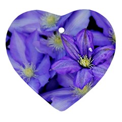 Purple Wildflowers For Fms Heart Ornament (two Sides) by FunWithFibro