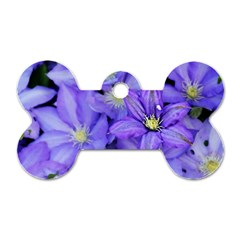 Purple Wildflowers For Fms Dog Tag Bone (two Sided) by FunWithFibro