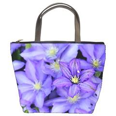 Purple Wildflowers For Fms Bucket Handbag by FunWithFibro