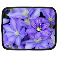 Purple Wildflowers For Fms Netbook Sleeve (xxl) by FunWithFibro
