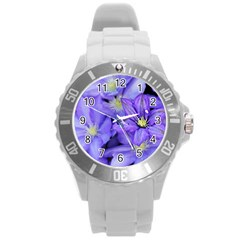 Purple Wildflowers For Fms Plastic Sport Watch (large) by FunWithFibro