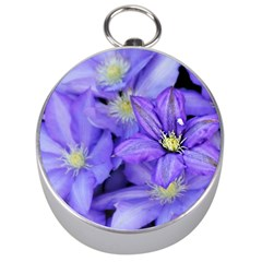 Purple Wildflowers For Fms Silver Compass by FunWithFibro