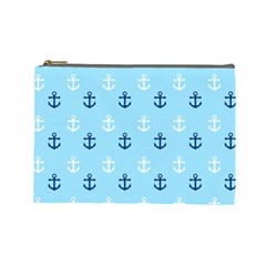 Anchors In Blue And White Cosmetic Bag (large) by StuffOrSomething