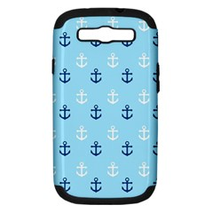 Anchors In Blue And White Samsung Galaxy S Iii Hardshell Case (pc+silicone) by StuffOrSomething