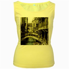 Vintage Venice Canal Women s Tank Top (yellow) by bloomingvinedesign