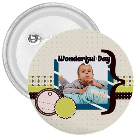 Kids By Kids   3  Button   Gep2pnv3jwn4   Www Artscow Com Front
