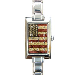 Vinatge American Roots Rectangular Italian Charm Watch by dflcprints