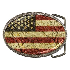 Vinatge American Roots Belt Buckle (oval) by dflcprints