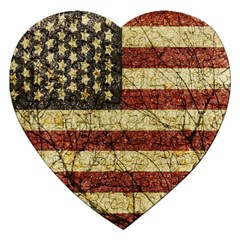 Vinatge American Roots Jigsaw Puzzle (heart) by dflcprints