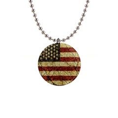 Vinatge American Roots Button Necklace by dflcprints