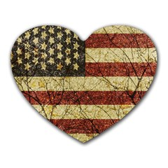 Vinatge American Roots Mouse Pad (heart) by dflcprints