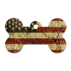 Vinatge American Roots Dog Tag Bone (two Sided) by dflcprints