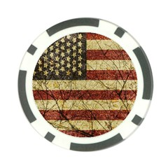 Vinatge American Roots Poker Chip by dflcprints