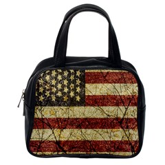 Vinatge American Roots Classic Handbag (one Side) by dflcprints