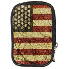 Vinatge American Roots Compact Camera Leather Case by dflcprints