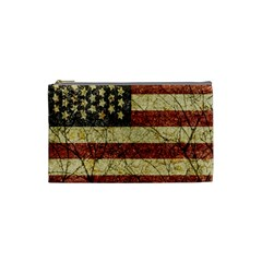 Vinatge American Roots Cosmetic Bag (small) by dflcprints