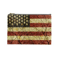 Vinatge American Roots Cosmetic Bag (large) by dflcprints