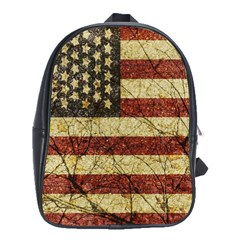 Vinatge American Roots School Bag (large) by dflcprints