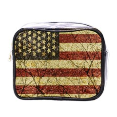 Vinatge American Roots Mini Travel Toiletry Bag (one Side) by dflcprints