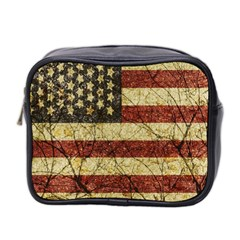 Vinatge American Roots Mini Travel Toiletry Bag (two Sides) by dflcprints