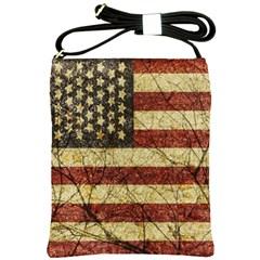 Vinatge American Roots Shoulder Sling Bag by dflcprints