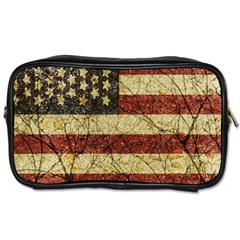 Vinatge American Roots Travel Toiletry Bag (two Sides) by dflcprints